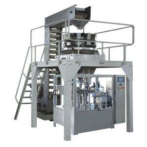 ავტომატური Premade granule წონა შევსება და დალუქვის წარმოების ხაზი